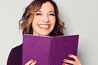 Rachel with a book